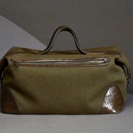sac cabine toile et croco