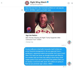 Mike Cernovich, Right Wing Watch, Jared Holt, Jack Posobiec, Fake News, Media Collusion,