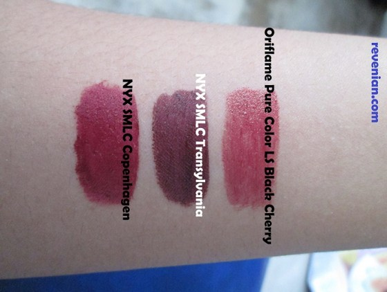 Swatch for Oriflame Pure Color LS Black Cherry