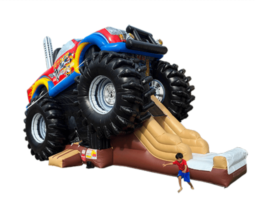 Monster Truck Bouncy Combo Reventals Los Angeles Ca Party Corporate Festival Tent Rentals