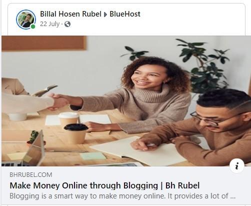 Sharing blog-post on Facebook