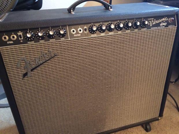 Fender Custom Vibrasonic Black Silver