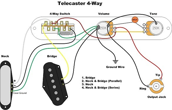Stunning Fender Telecaster Wiring Diagram 3 Way Gallery Images: Wiring Diagram For Telecaster 4 Way Switch At Imakadima.org