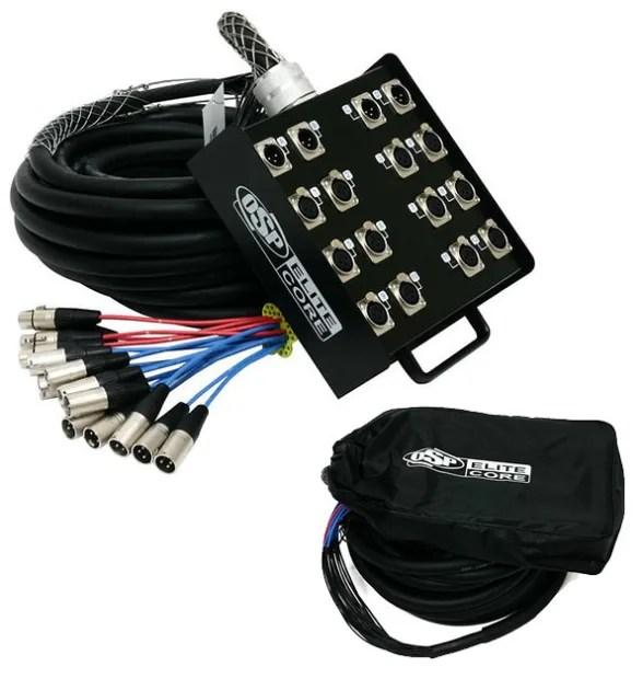 Elite Core Ps 12 X 4 Channel 25 Ft Pro Audio Cable