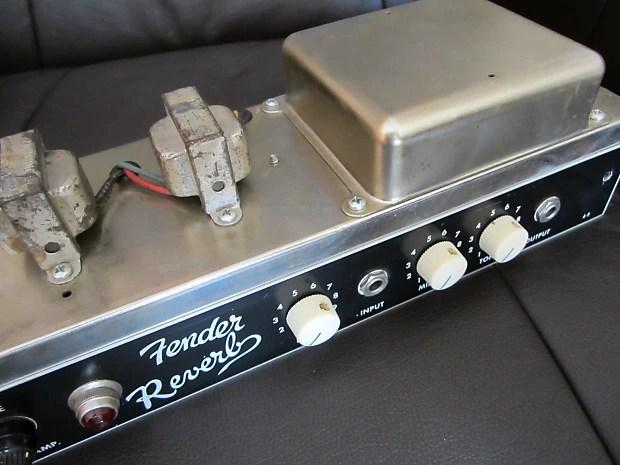 Vintage Fender 6g15 Reverb Unit Original Tubes Ready