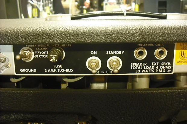 Early To Mid 70s Fender Bassman 50 Amplifier Head And 2x15