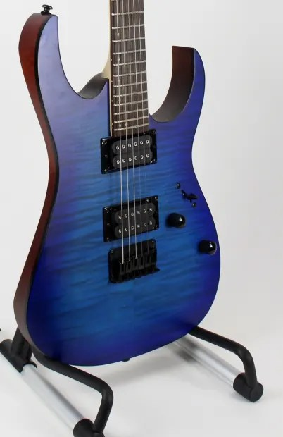 Ibanez Rg Fm Electric Guitar Transparent Blue Flamed
