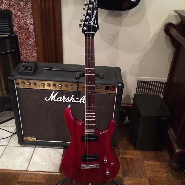 Ibanez Joe Satriani Js 700 Transparent Red P90s Case