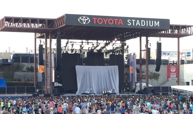 Jamie Lawson performing at Toyota Stadium in Frisco, TX on 9/5/15