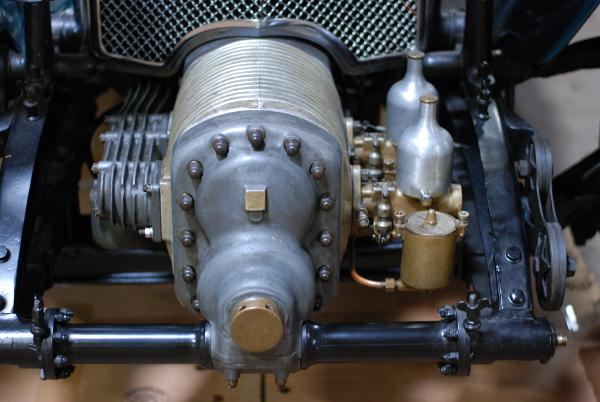 Inside of a car engine.