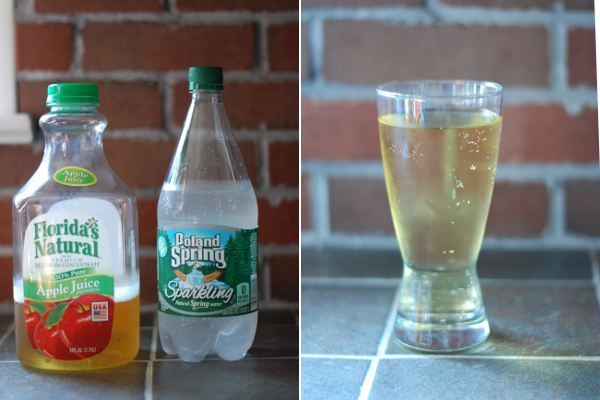 Apfelschorle attempt #2: apple juice and carbonated spring water