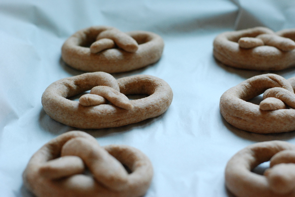 shaped, rising whole wheat soft pretzels