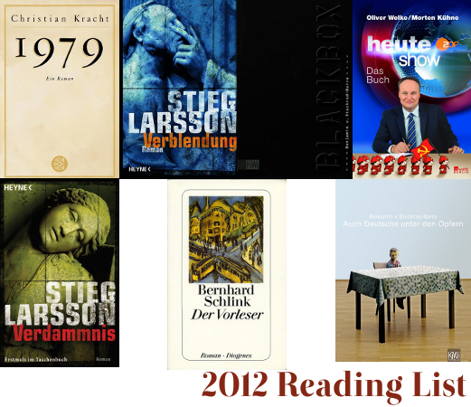 My 2012 Reading List