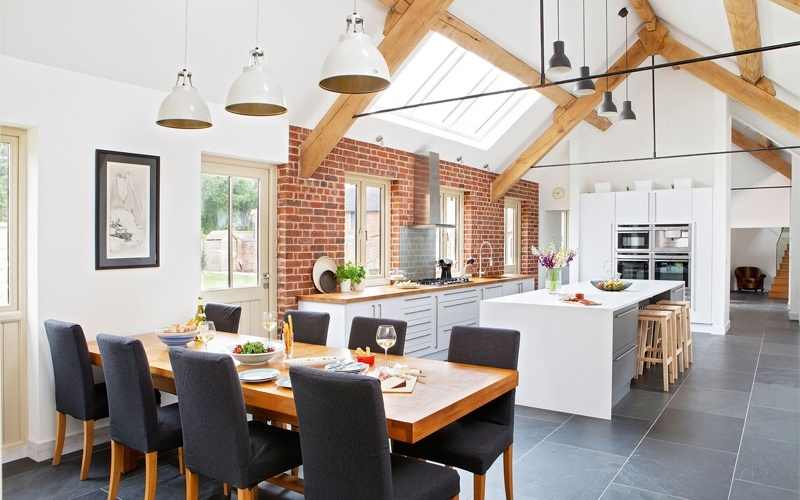 Example of open plan kitchen