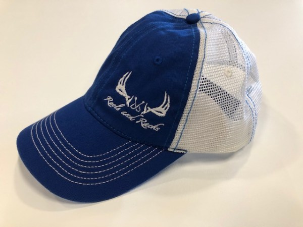 Blue White Mesh White Side Logo
