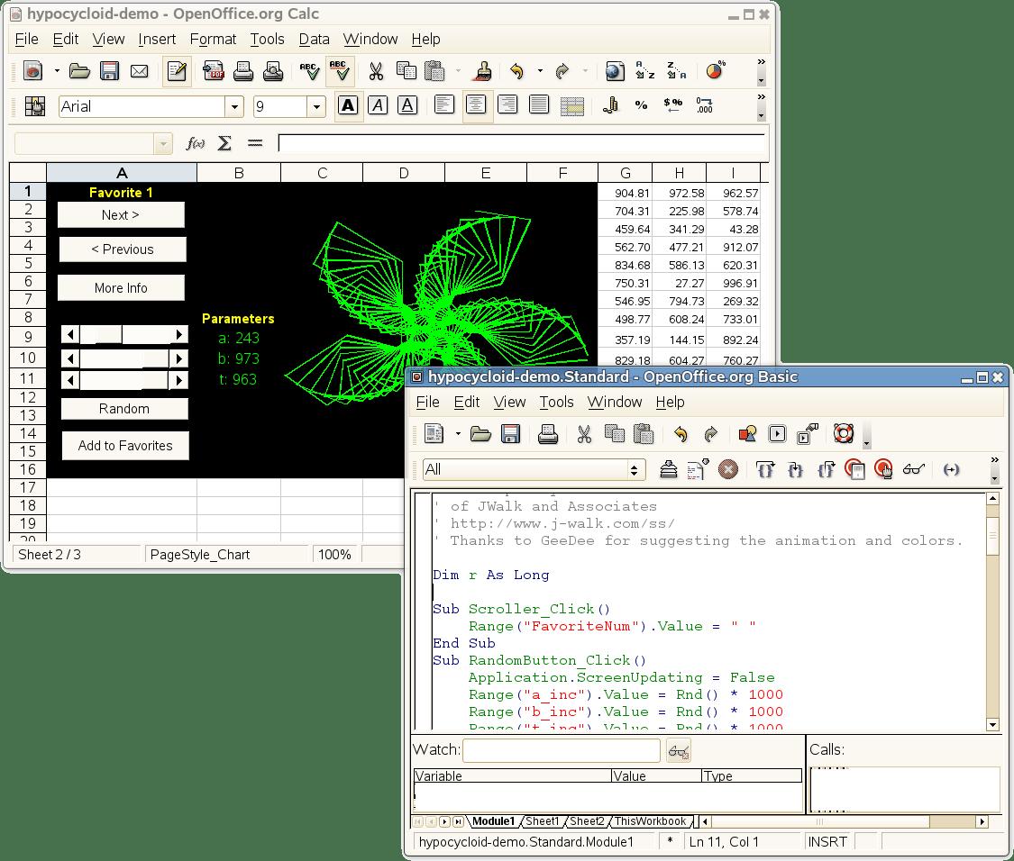Openoffice And Excel Vba Macros