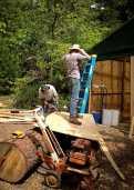 Jonny and Stan building shower