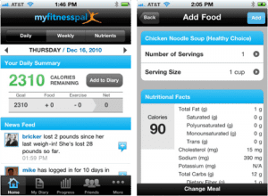 My Fitness Pal Smartphone App