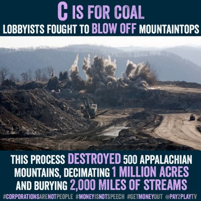From pay2play.tv:While the Appalachians are starting to move on from the coal industry, the damage remains. Ruined landscapes where once was there was vibrant growth, trees and rivers. And those who stayed have been infected by lung cancer from the coal dust leftover.