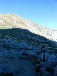 The Mt. Evans Trailhead at Summit Lake