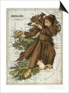 St. Patrick irish map