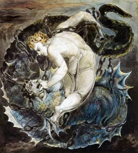 michael_binding_satan_print william_blake_