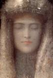 silver woman Odilon Redon