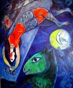 Marc Chagall 1910s-blue-circus