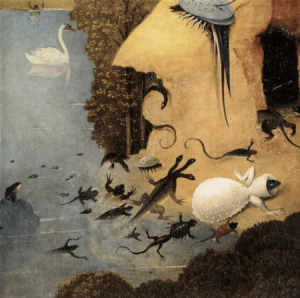 face creatures Hieronymus Bosch