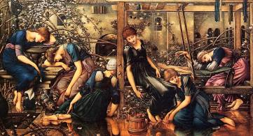 sleeping madians Edward Burne Jones