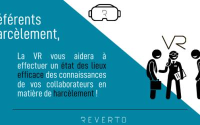 Référents harcèlement, la réalité virtuelle vous aidera à effectuer un état des lieux efficace des connaissances de vos collaborateurs en matière de harcèlement !
