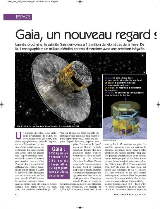 AiretCosmos 2012-06-08numero 2316 pages 68-69 Satellite GAIA_Page_1