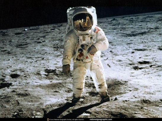 Buzz Aldrin pris en photo par Neil amstrong