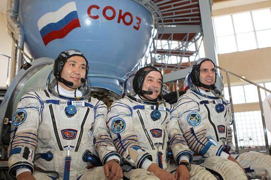 Les membres d'équipage de l'Expédition 38 en entrainement à la Cité des Etoiles en Russie : Koichi Wakata (JAXA), Mikhail Tyurin (RSA), Rick Mastracchio (NASA).
