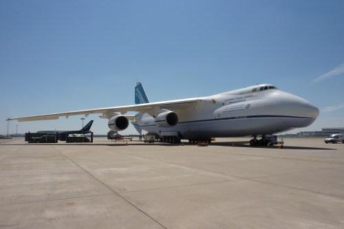 L'Antonov utilisé pour le transport du satellite Gaia de Toulouse à Cayenne (photo personnelle)