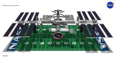 L'ISS est aussi grande qu'un terrain de football américain
