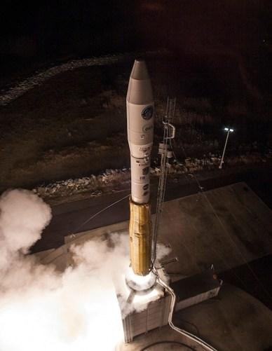 Le tir de Minotaur le 20 novembre 2013 depuis Wallops (source Orbital Sciences)