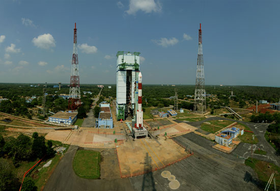 pslv-c25 launch pad