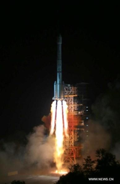Décollage de Long March 3B (source Xinhua)