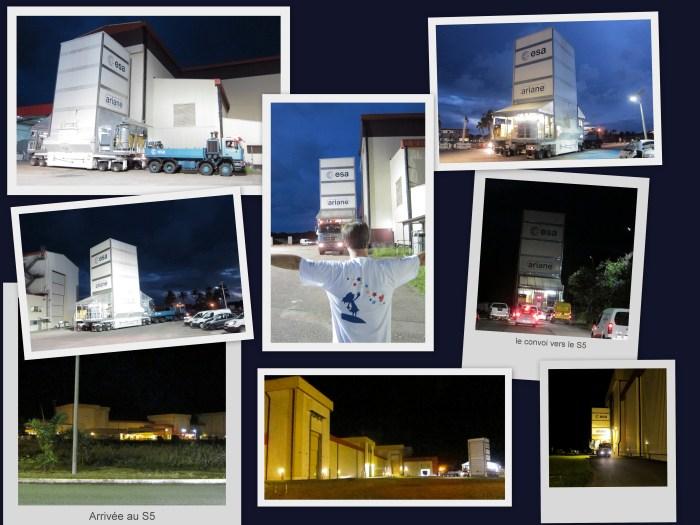 Le transport entre les 2 bâtiments en convoi