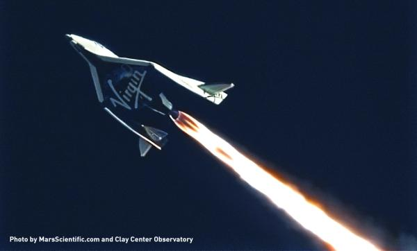 SpaceShipTwo a passé le mur du son (source Virgin Galactic)