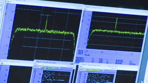 le signal tant attendu du réveil deRosetta (source ESA)