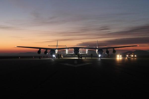 SpaceShipTwo juste avant le décollage du 11 janvier 2014 (source @jdivenere)
