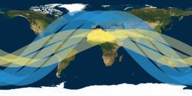 L'orbite du GPM Core comparée à celle du TRMM (source NASA)