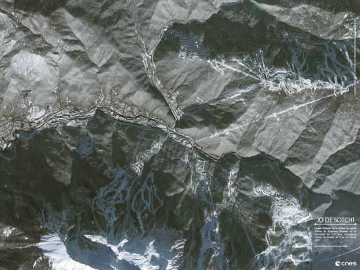 Sochi vu par Pleiades (source CNES)