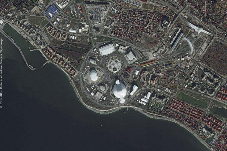 Sochi par Pleiades (source Airbus Defence&Space)