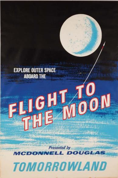 "Affiche de l'attraction ""Flight to the Moon"" (source http://www.cgtopia.eu/)"