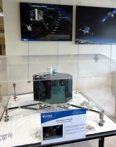 maquette échelle 1/2 de Philae au CNES Toulouse