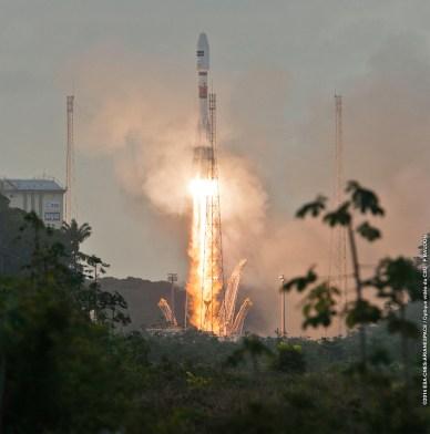 Décollage Soyuz depuis Colibri, le 03/04/2014 - VS07 (source Arianespace)