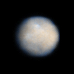 Photo de CERES prise par le télescope spatial HUBBLE en 2003 (Crédit: NASA , ESA , STScI)